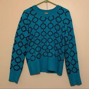 Joe Fresh teal sweater